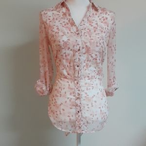 Cherry Blossom Button Down Shirt by Candies